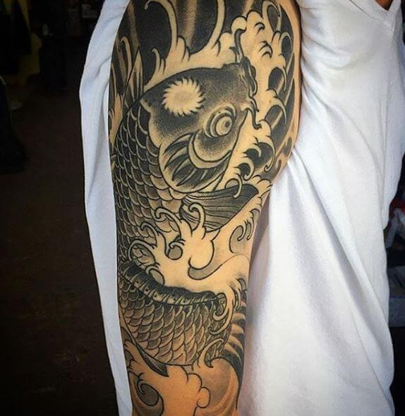 Koi Fish Tattoo On Arm 7