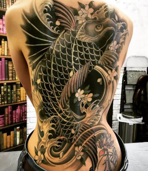 Koi Fish Tattoo On Body 1