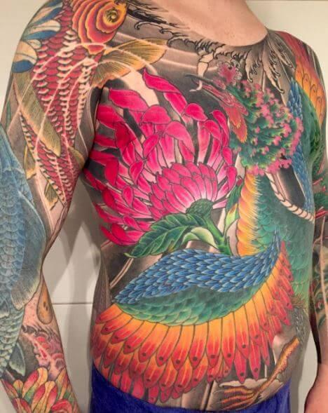 Koi Fish Tattoo On Body