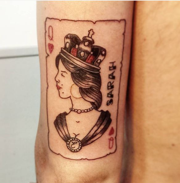 Latest New Queen Tattoos Design And Ideas For Girls
