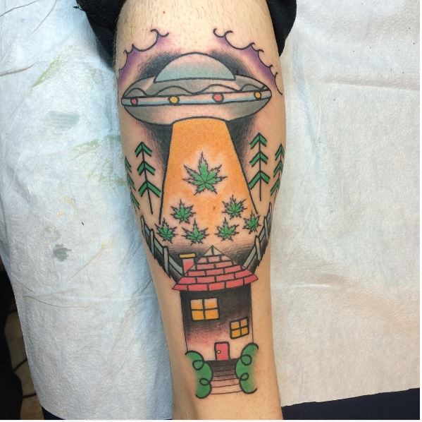 Latest UFO Tattoos Design And Ideas