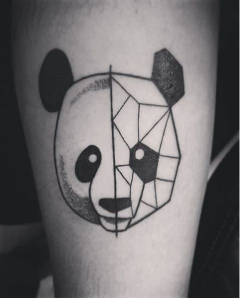 Line Panda Tattoos Design And Ideas