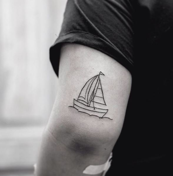 Little Ship Tattoos Design