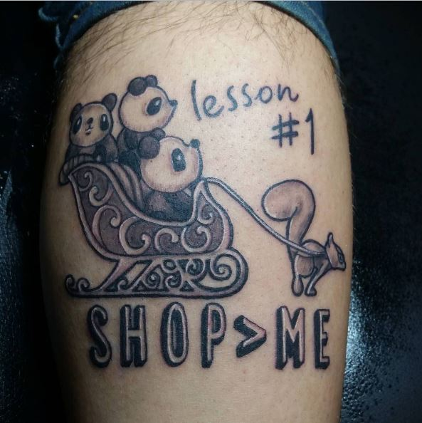 Little Shop Panda Tattoos Design And Ideas For Men