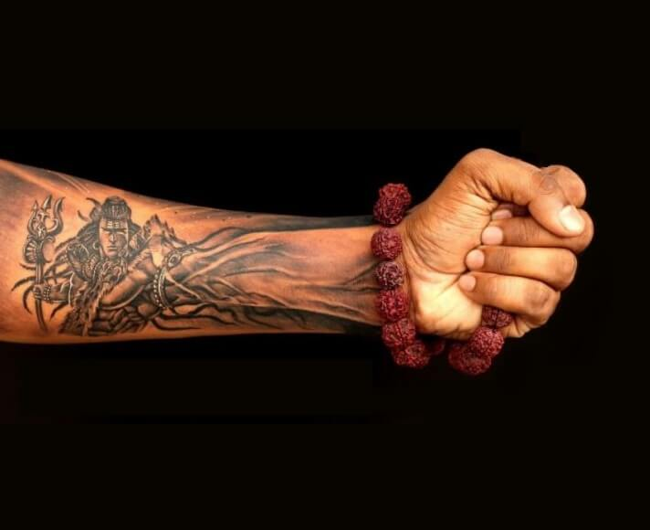 Lord Shiva 3D Tattoos On Forearm