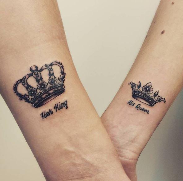 Lovely King And Queen Tattoos Design For Boyfriend Girlfriend