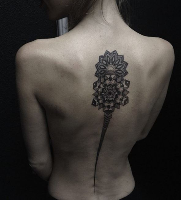 Mandala Spine Tattoos Design And Ideas For Girls