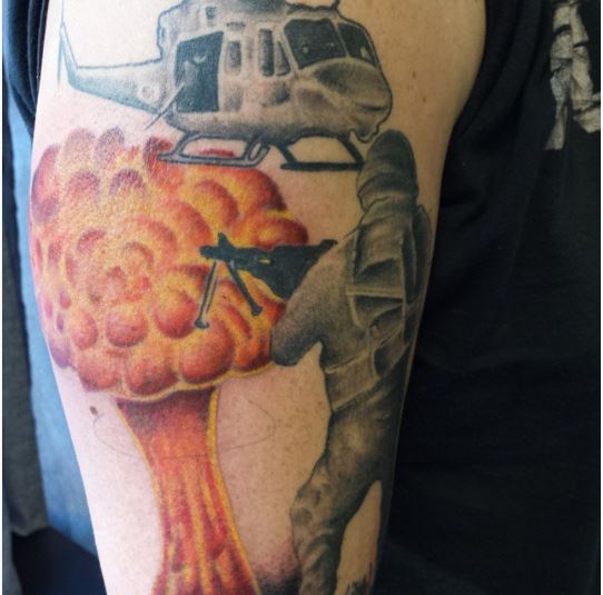 Marine Corps Army Fight Tattoos Design