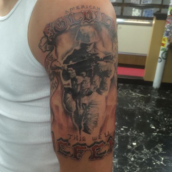 Marine Corps Army Tattoos Design For Men
