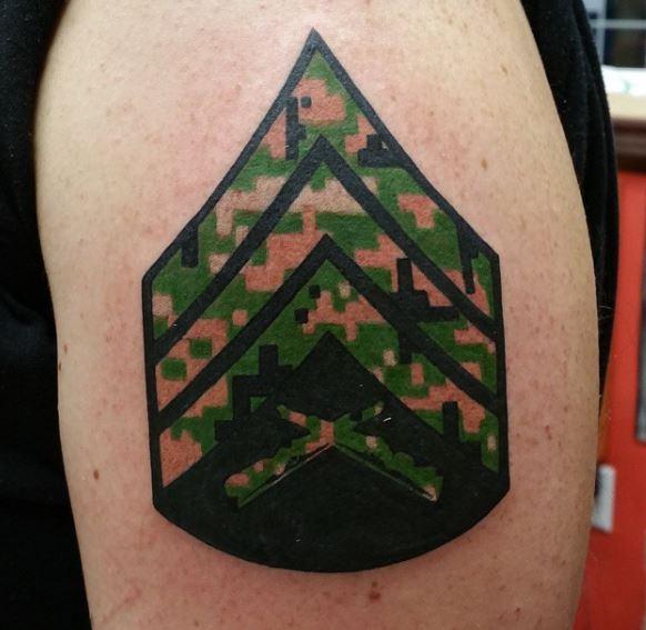 Marine Corps And Skull Tattoos Design