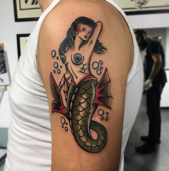 Mermaid Tattoo On Arm 13