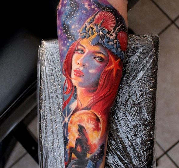 Mermaid Tattoo On Arm 14