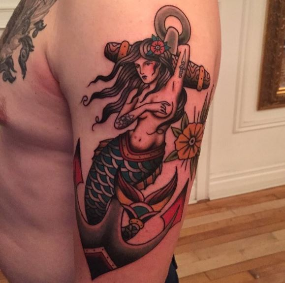 Mermaid Tattoo On Arm 33