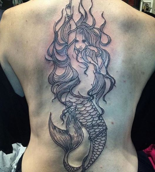 Mermaid Tattoo On Body 6