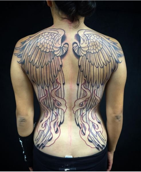 Most Beautiful Full Back Tattoos Design And Ideas