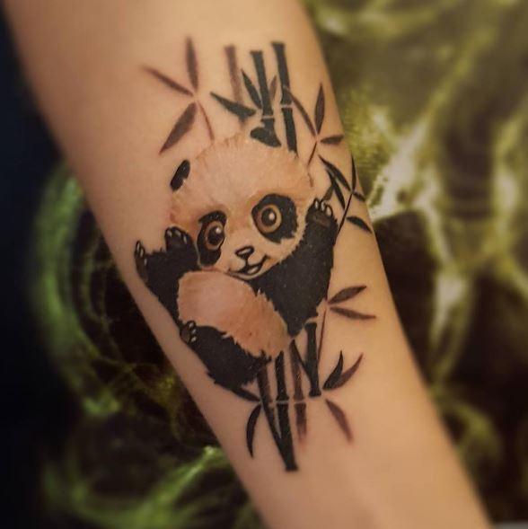 Nice Panda Tattoos Design For Women