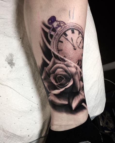 Nice Pocket Watch Tattoos Design And Ideas