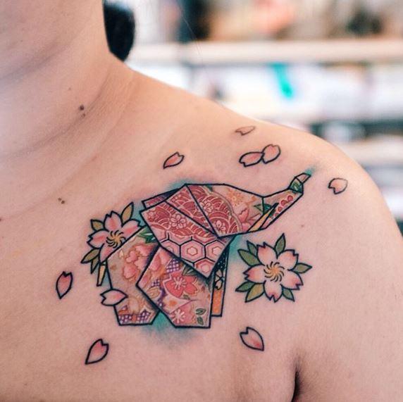 Origami Tattoo 00