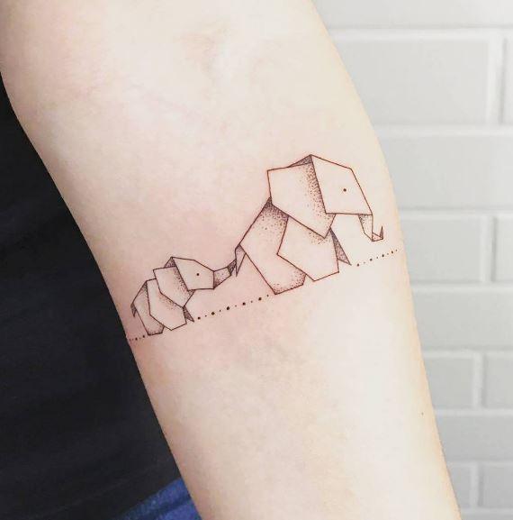 Origami Tattoo 9