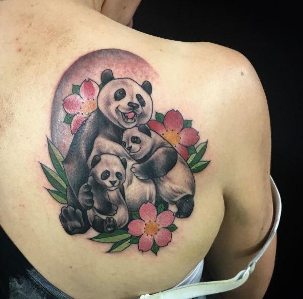 Panda Family Tattoos Design And Ideas