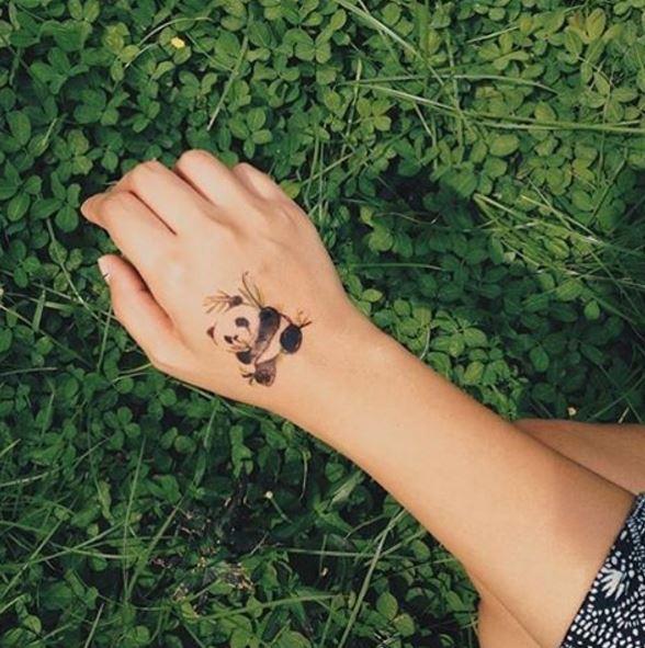 Panda Tattoos Design For Girls