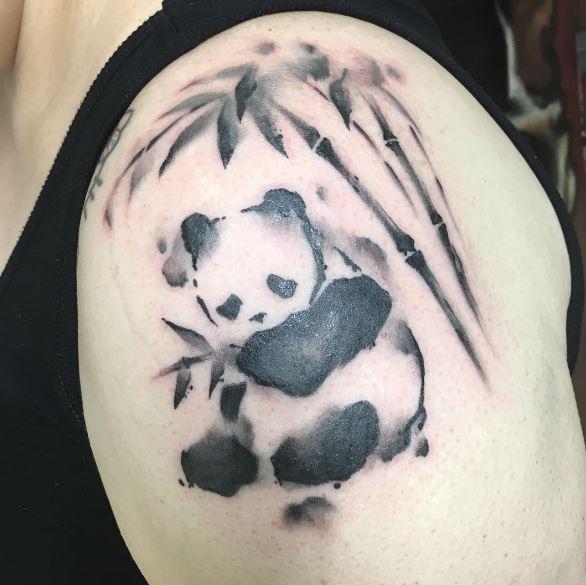 70+ Cute Panda Tattoos for Men (2020) Cool Small Designs - photo#35