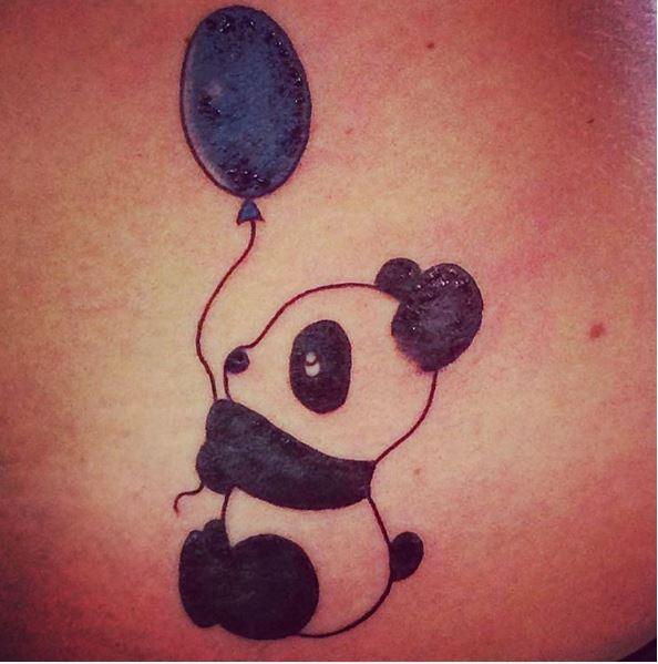 Panda Tattoos Design On Stomach