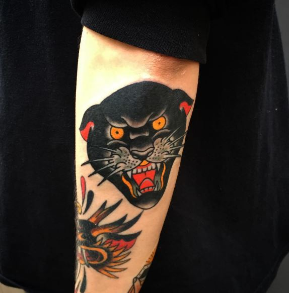 Panther Tattoo On Arm 1
