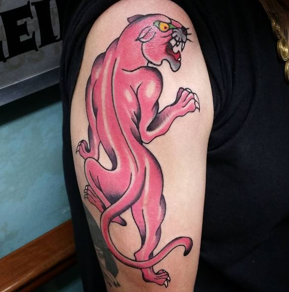 Panther Tattoo On Arm 20