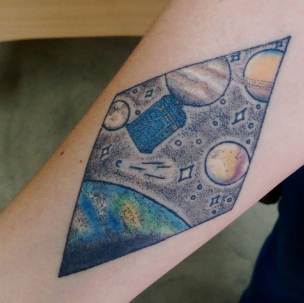 Planet Tattoos Design For Men