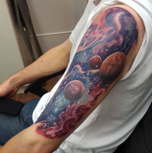Planet Tattoos Ideas For Boys