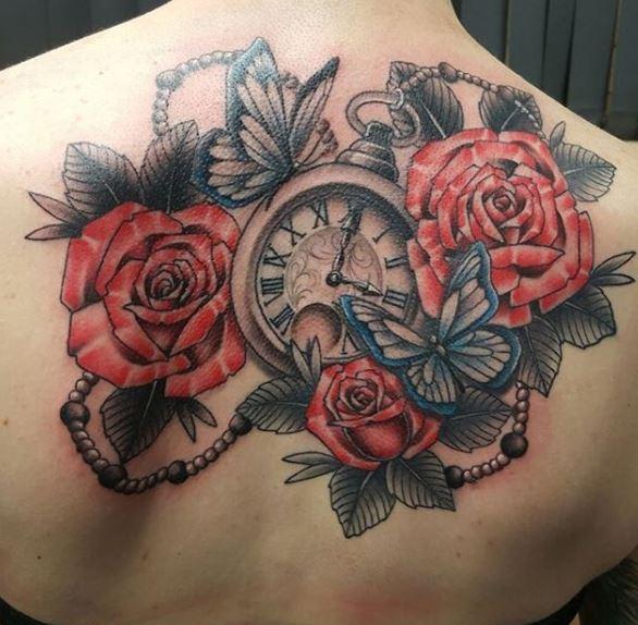 Pocket Tattoos Design For Women Backside