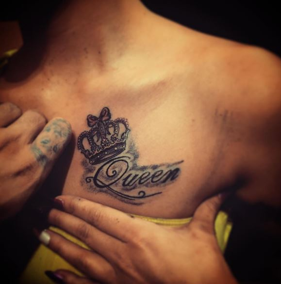 Queen Tattoos Design For Lady
