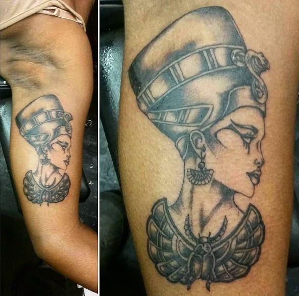 Queen Tattoos Design On Biceps