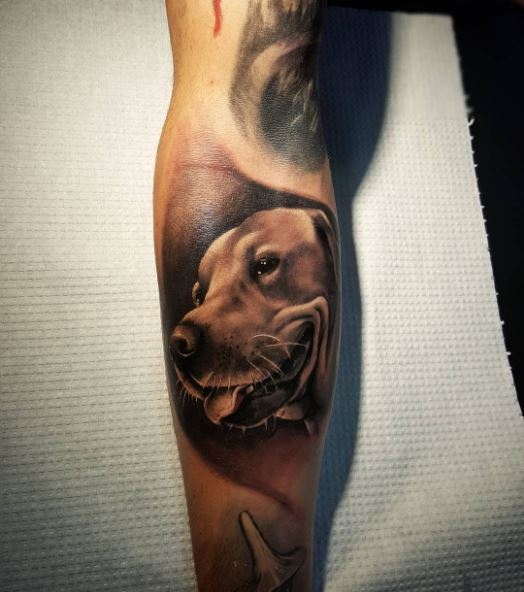 RealisticDog Tattoos For Women