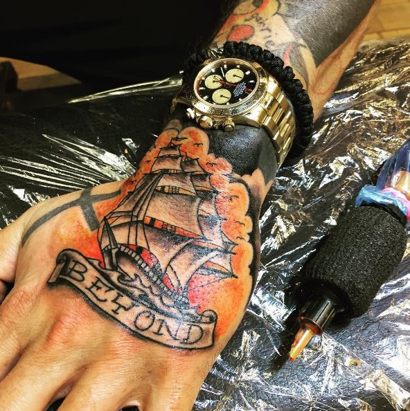 Ship Hand Tattoos Ideas And Tips