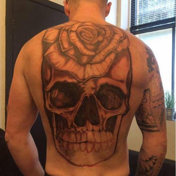 Simple Back Tattoos Design For Men