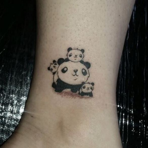 Small Panda Family Tattoos Pictures