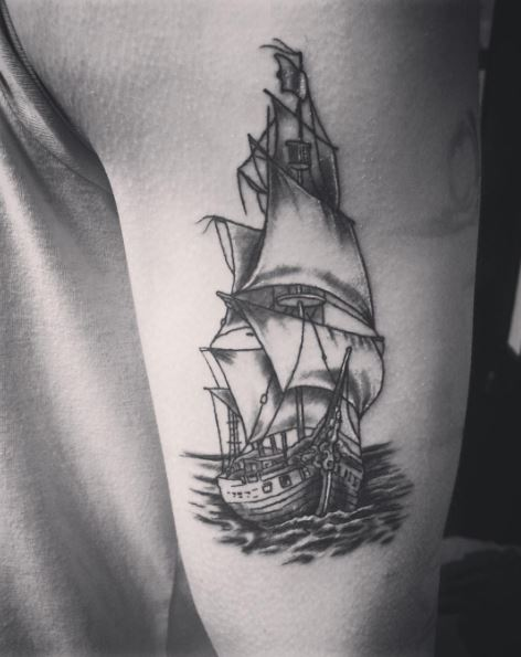 Small Ship Tattoos Design And Ideas