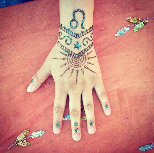 Sun Tattoos Design For Girls