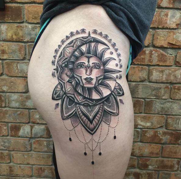 Sun Tattoos Design For Women