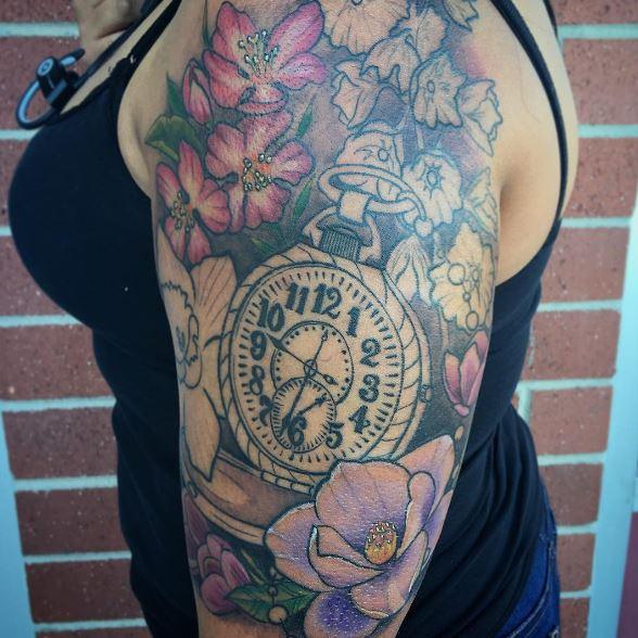 Timeless Pocket Watch Tattoo Ideas