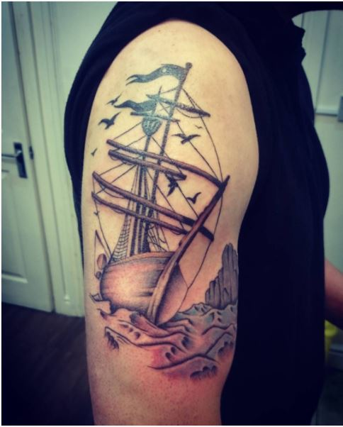 Top Ship Tattoos Design And Ideas