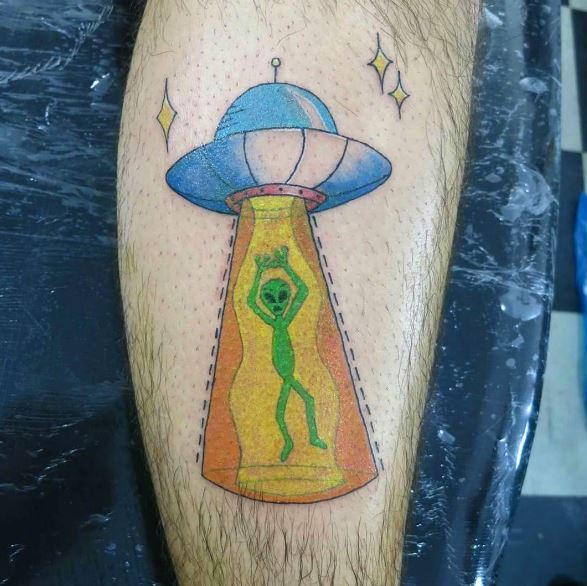 Top UFO Tattoos Design And Ideas
