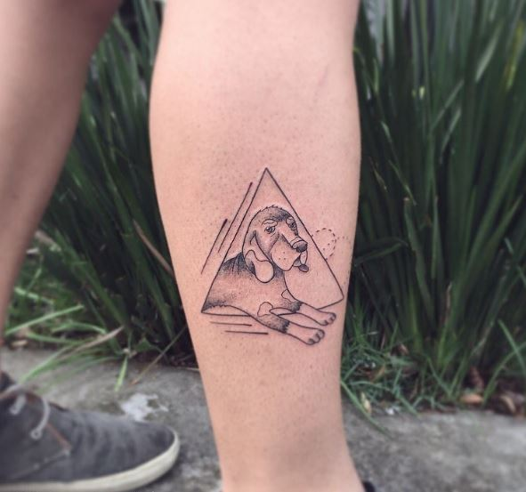 Triangle And Dog Tattoos Design And Ideas