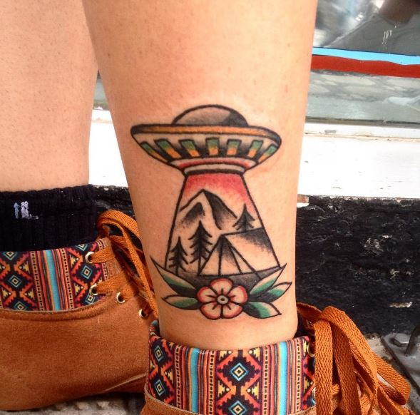 UFO Tattoos Ideas For Guys