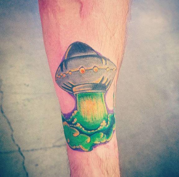 UFO Tattoos On Legs