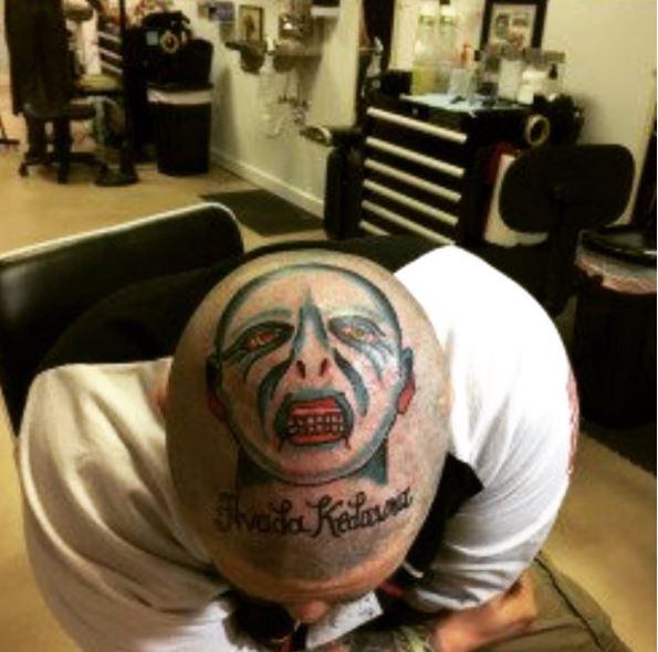 Vampire Bad Tattoos Design On Head