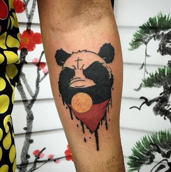 Water Color Panda Tattoo Design And Ideas