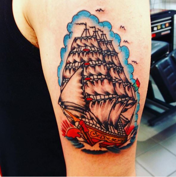 Wonderful Colored Tattoos Design And Ideas